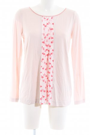 Riani Rundhalspullover pink-creme Allover-Druck Casual-Look