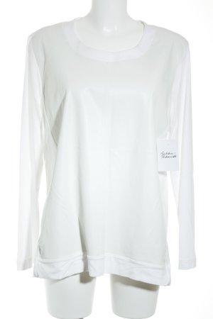 Riani Rundhalspullover weiß-hellbeige klassischer Stil