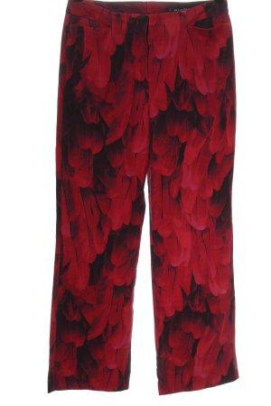 Riani Pantalone a zampa d'elefante rosso-nero stampa integrale stile casual