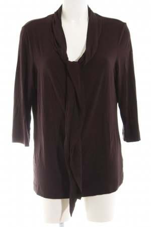 Riani Tie-neck Blouse brown casual look