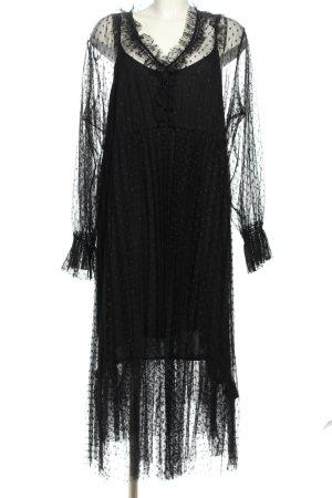 Riani Kanten jurk zwart elegant