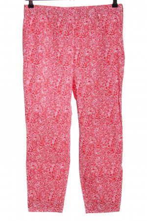 Riani Stretchhose rot-weiß abstraktes Muster Casual-Look