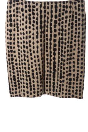 Riani Jupe tricotée blanc cassé-noir imprimé allover style décontracté
