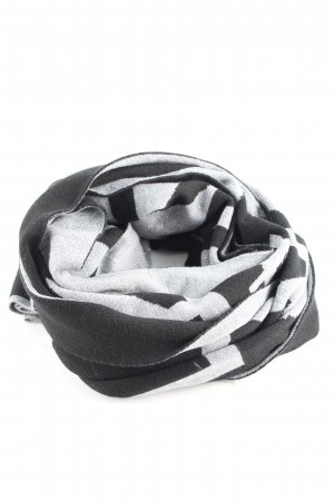 Riani Knitted Scarf white-black printed lettering casual look