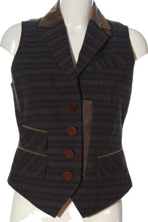 Riani Gilet tricoté gris clair motif à carreaux style d'affaires