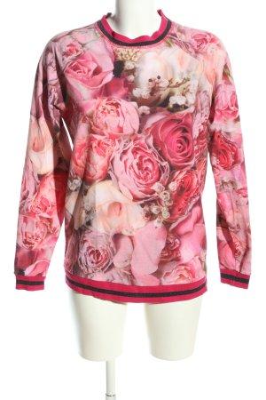 Riani Sweatshirt pink-creme Allover-Druck Casual-Look
