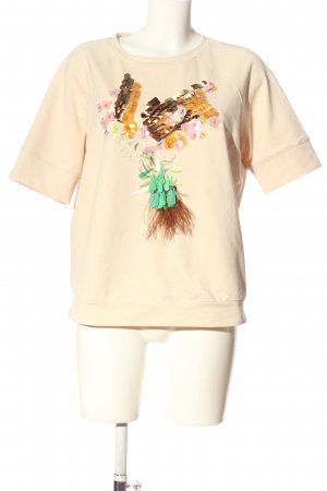 Riani T-shirt crema Stampa a tema stile casual