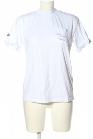 Riani T-Shirt white printed lettering casual look