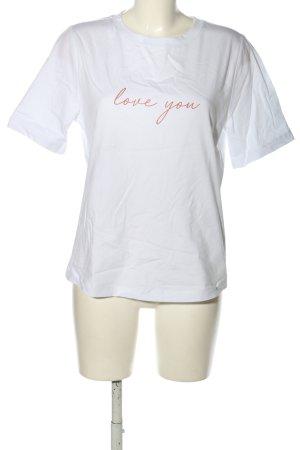 Riani T-Shirt weiß Schriftzug gedruckt Casual-Look