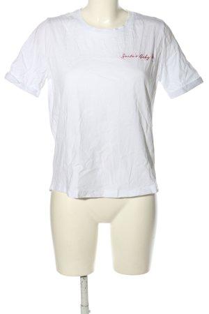Riani T-Shirt weiß Schriftzug gestickt Casual-Look