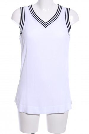 Riani Trägertop weiß-schwarz Streifenmuster Casual-Look