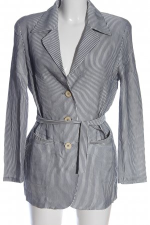 Riani Lange blazer wit-blauw gestreept patroon casual uitstraling
