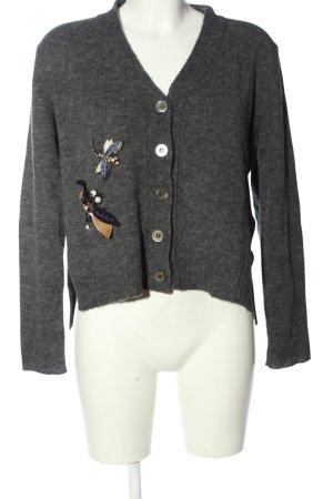 Riani V-Ausschnitt-Pullover hellgrau meliert Casual-Look