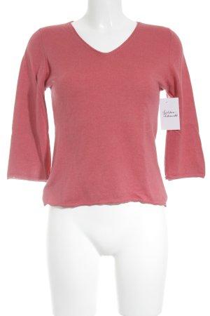 Riani V-Ausschnitt-Pullover magenta