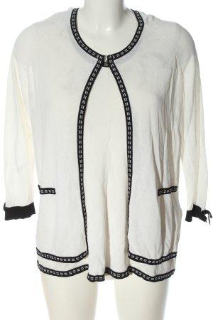 Riani Web Twin Set weiß-schwarz Casual-Look