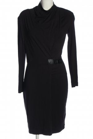 Riani Wickelkleid schwarz Business-Look