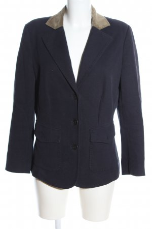 Riani Woll-Blazer blau-braun Business-Look