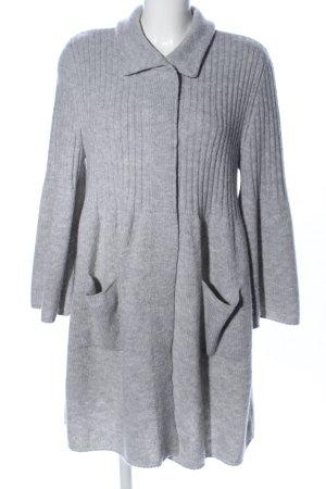 Riani Veste en laine gris clair moucheté style décontracté