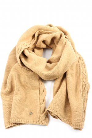 Riani Woolen Scarf cream cable stitch casual look