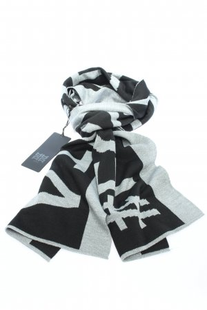 Riani Woolen Scarf black-silver-colored printed lettering casual look