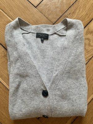 Rag & bone Knitted Cardigan light grey-natural white cashmere