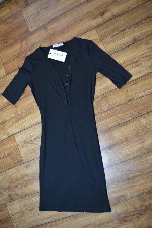 Ribbed Short Sleeve Dress Gr. 38 von Nakd