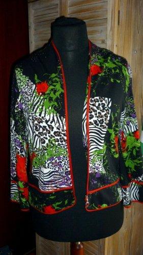 RiBKOFF Damen Designer Jacke Leopard Urlaub. Stretchig Gr. 42 Leo