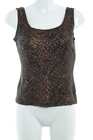 Ribkoff Camiseta sin mangas negro-color bronce look casual