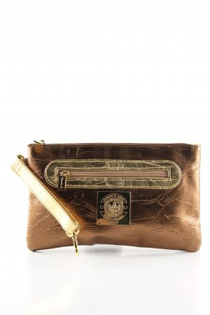 Ricarda M Clutch goldfarben-bronzefarben Glanz-Optik