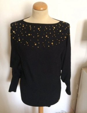 Ricarda M Felpa kimono nero-oro