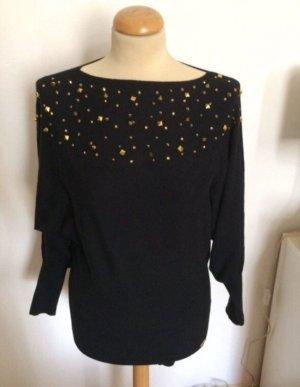 Ricarda M Kimono sweater zwart-goud
