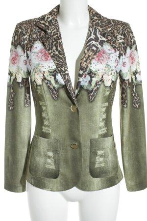 Ricarda M Jersey Blazer flower pattern extravagant style