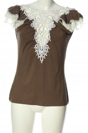 Ricarda M Short Sleeved Blouse brown-white casual look