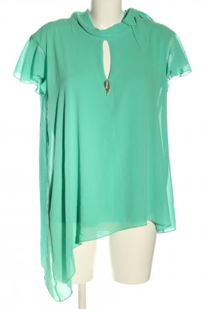Ricarda M Short Sleeved Blouse turquoise casual look