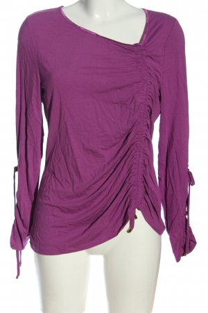 Ricarda M Long Sleeve Blouse lilac cable stitch casual look