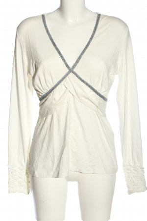 Ricarda M Long Sleeve Blouse white-blue casual look