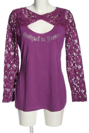 Ricarda M Long Sleeve Blouse lilac casual look