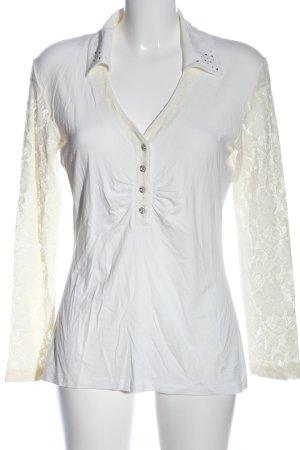 Ricarda M Longsleeve white casual look