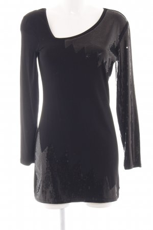 Ricarda M Longsleeve schwarz extravaganter Stil