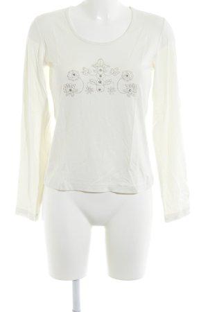 Ricarda M Longsleeve white simple style