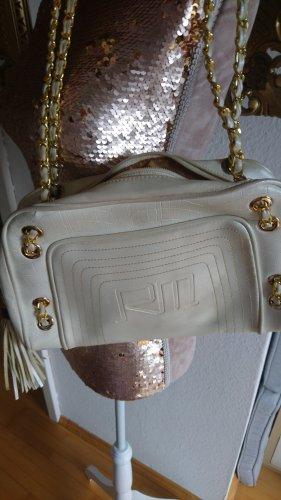 Ricarda M. Retro Vintage Oldschool Tasche Perlmutt mit goldenem Kettenhenkeln