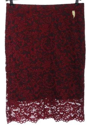 Ricarda M Falda de encaje rojo-negro elegante