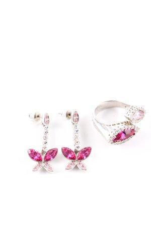 Ricarda M Statementring silberfarben-pink Elegant