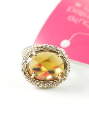 Ricarda M Statementring goldfarben-hellorange Elegant