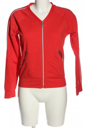 Ricarda M Sweat Shirt red-silver-colored abstract pattern casual look
