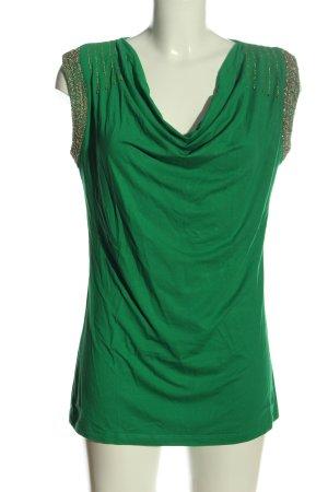 Ricarda M Waterval shirt groen casual uitstraling