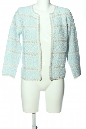 rich and royal Cardigan türkis-weiß grafisches Muster Casual-Look