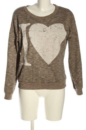 rich and royal Sweatshirt braun-creme meliert Casual-Look