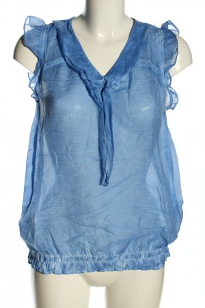 rich and royal Transparent Blouse blue casual look