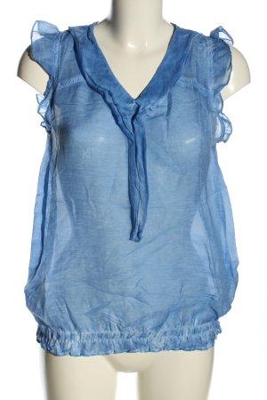 rich and royal Transparenz-Bluse blau Casual-Look